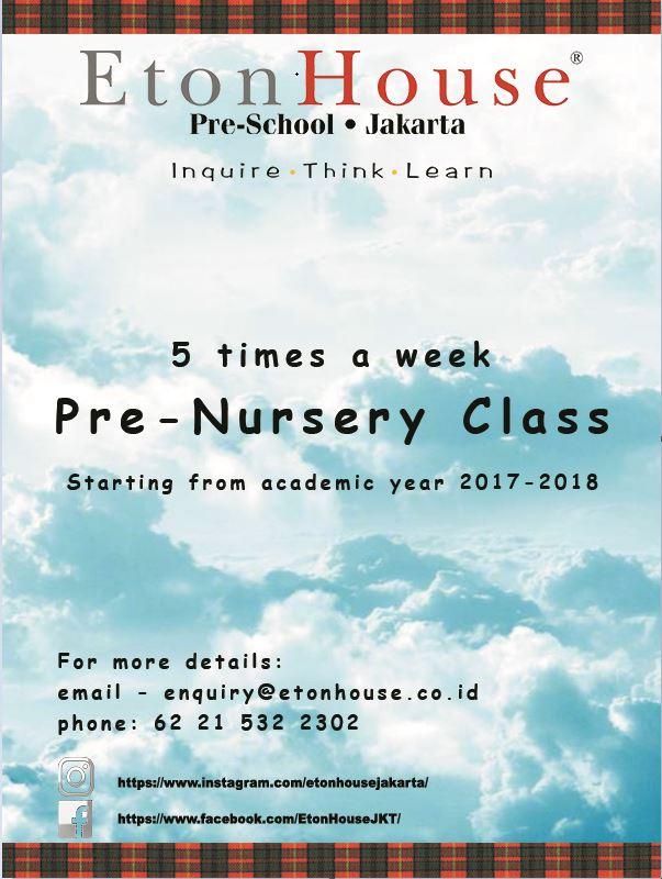 Pre-Nursery programme
