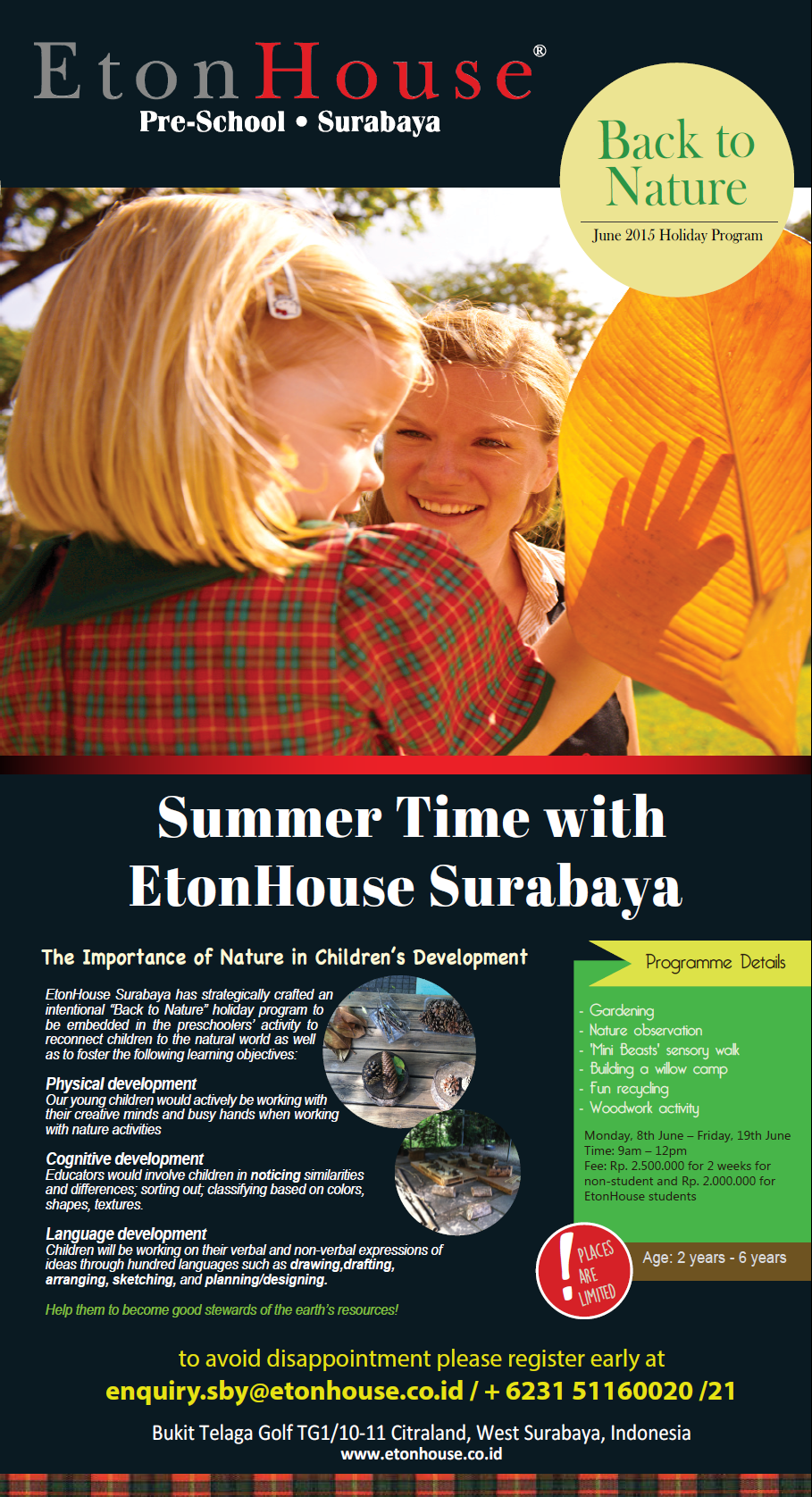 Back to Nature- June 2015 Holiday Program
